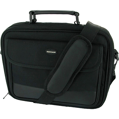 rooCASE Classic Carrying Bag for Netbook or iPad 2 Black - rooCASE Non-Wheeled Computer Cases