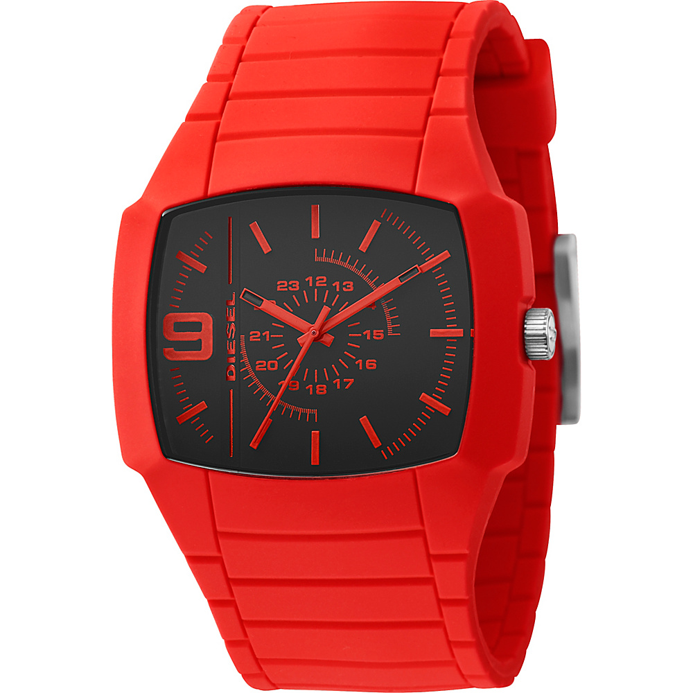 Diesel Watches Men's Bright Red Color Domination Analog