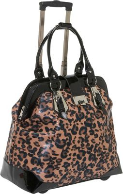 Earth Axxessories Cheetah Rolling Laptop Tote