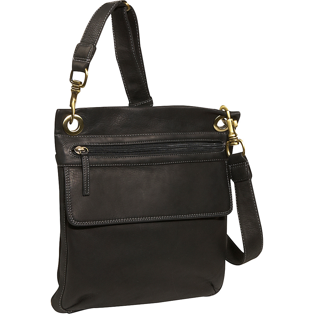 Derek Alexander NS slim shoulder bag - Black - Handbags, Leather Handbags
