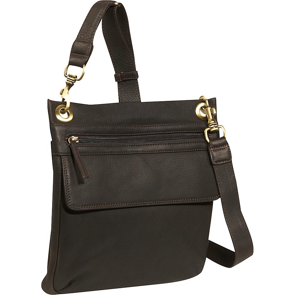 Derek Alexander NS slim shoulder bag - Brown - Handbags, Leather Handbags