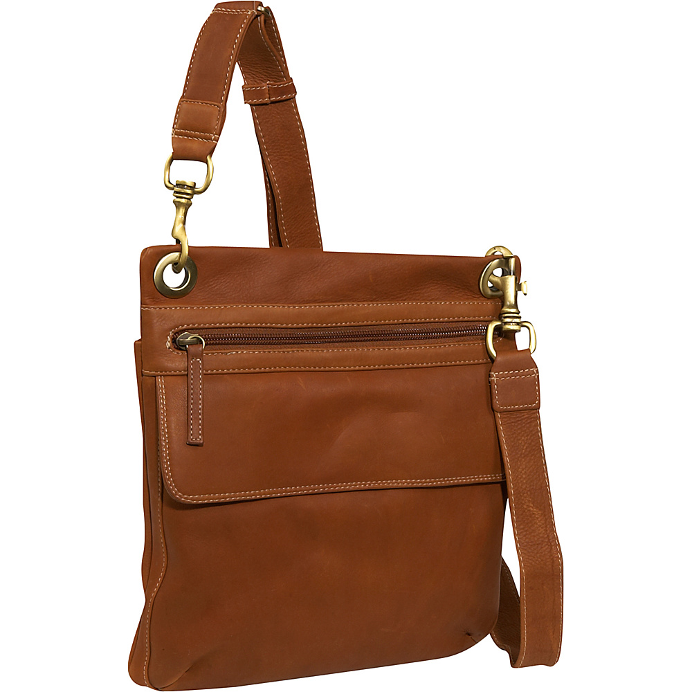 Derek Alexander NS slim shoulder bag - Tan - Handbags, Leather Handbags