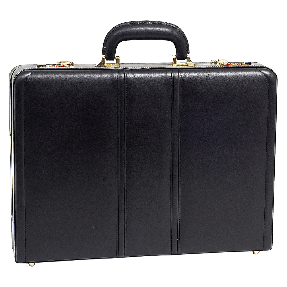 McKlein USA Daley Leather Attache Case - Black - Work Bags & Briefcases, Non-Wheeled Business Cases