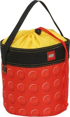 LEGO Small Cinch Bucket - Red Knob Print