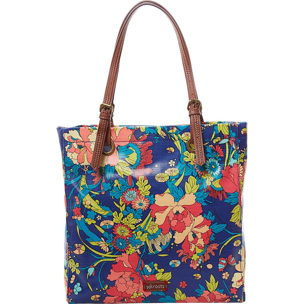 Sakroots Artist Circle Shopper Royal Flower Power - Sakroots Fabric Handbags - Handbags, Fabric Handbags