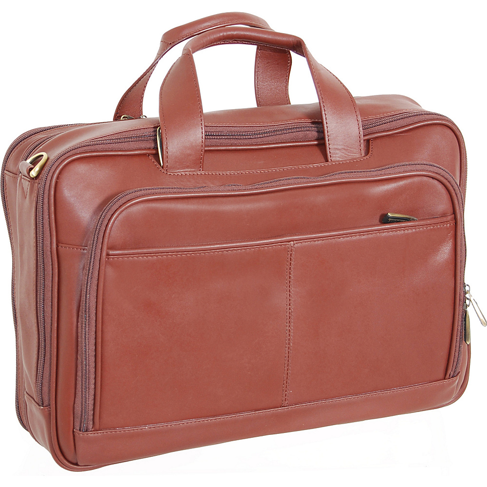 Netpack Leather Laptop Business case - Brown - Work Bags & Briefcases, Non-Wheeled Business Cases