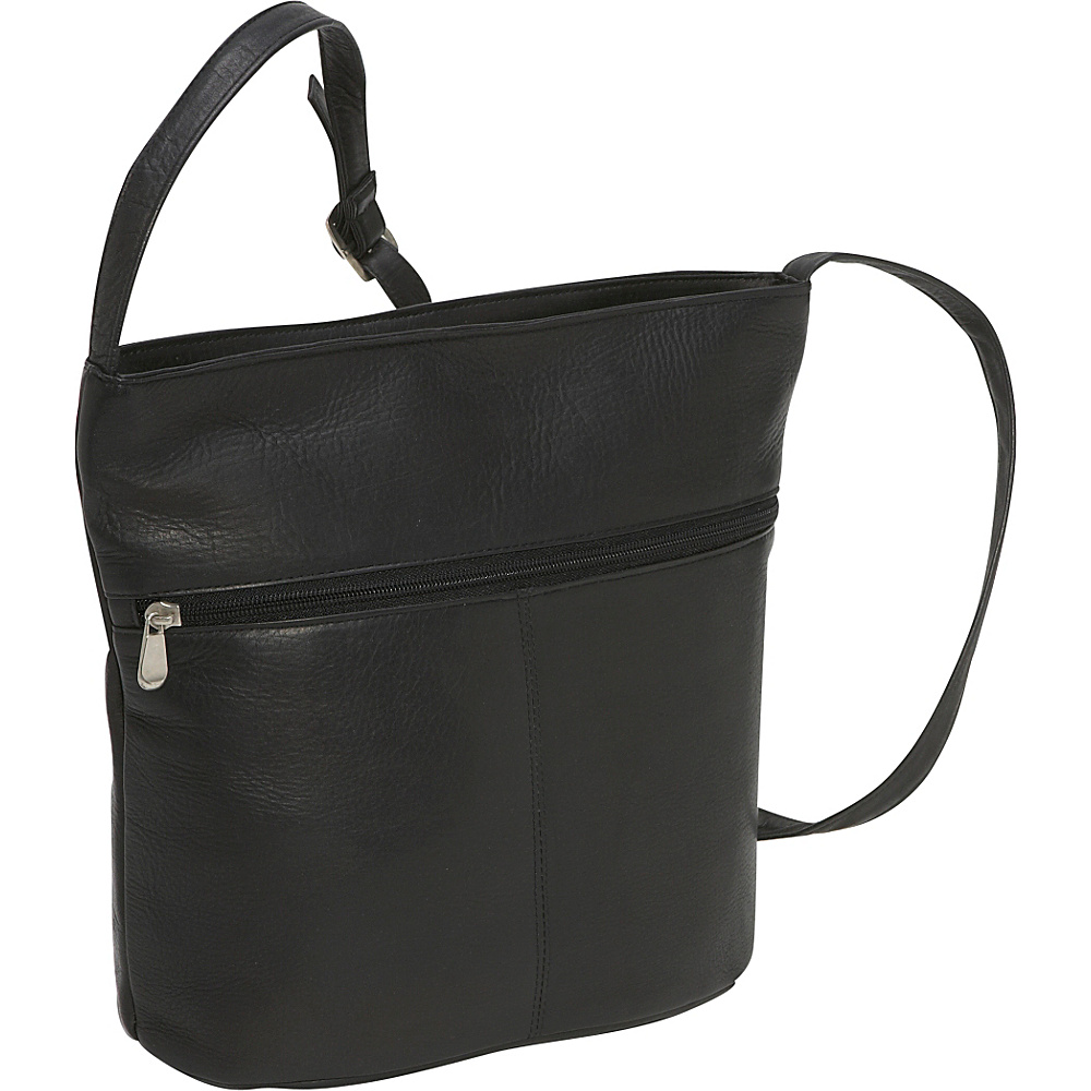 Le Donne Leather Bucket Shoulder Bag - Black - Handbags, Leather Handbags