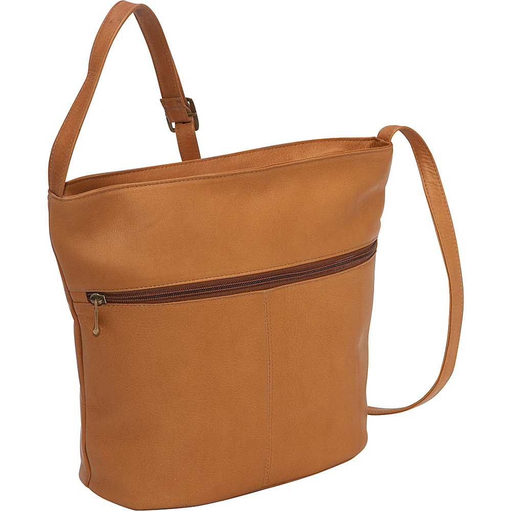 Le Donne Leather Bucket Shoulder Bag - Tan - Handbags, Leather Handbags