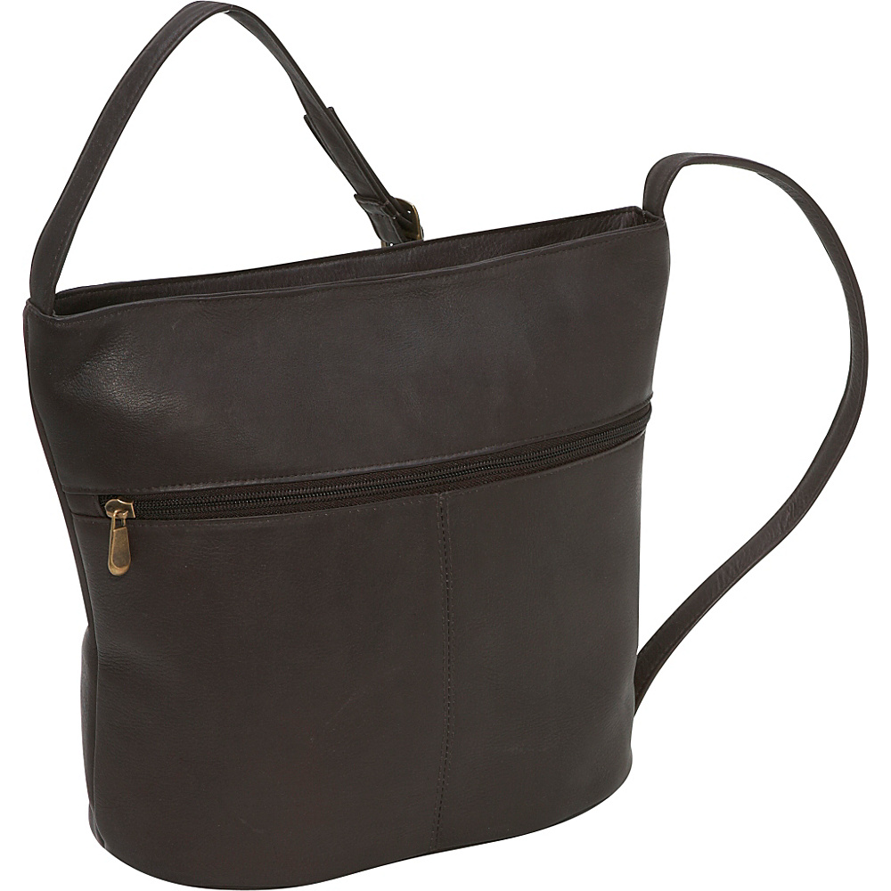 Le Donne Leather Bucket Shoulder Bag - Caf - Handbags, Leather Handbags