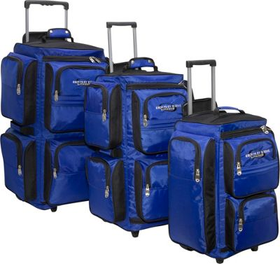 Geoffrey Beene Luggage 3 Piece Vertical Duffle Wheeler