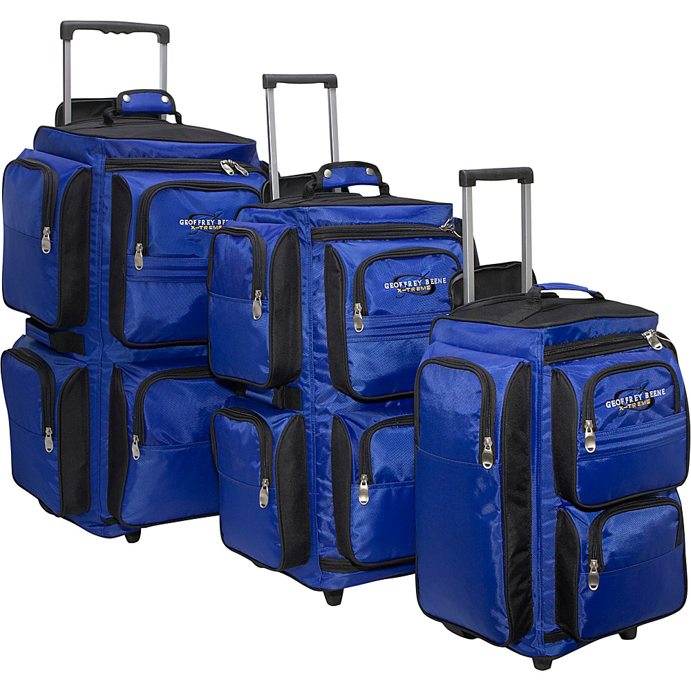 Geoffrey Beene Luggage 3 Piece Vertical Duffle Wheeler - Luggage, Luggage Sets