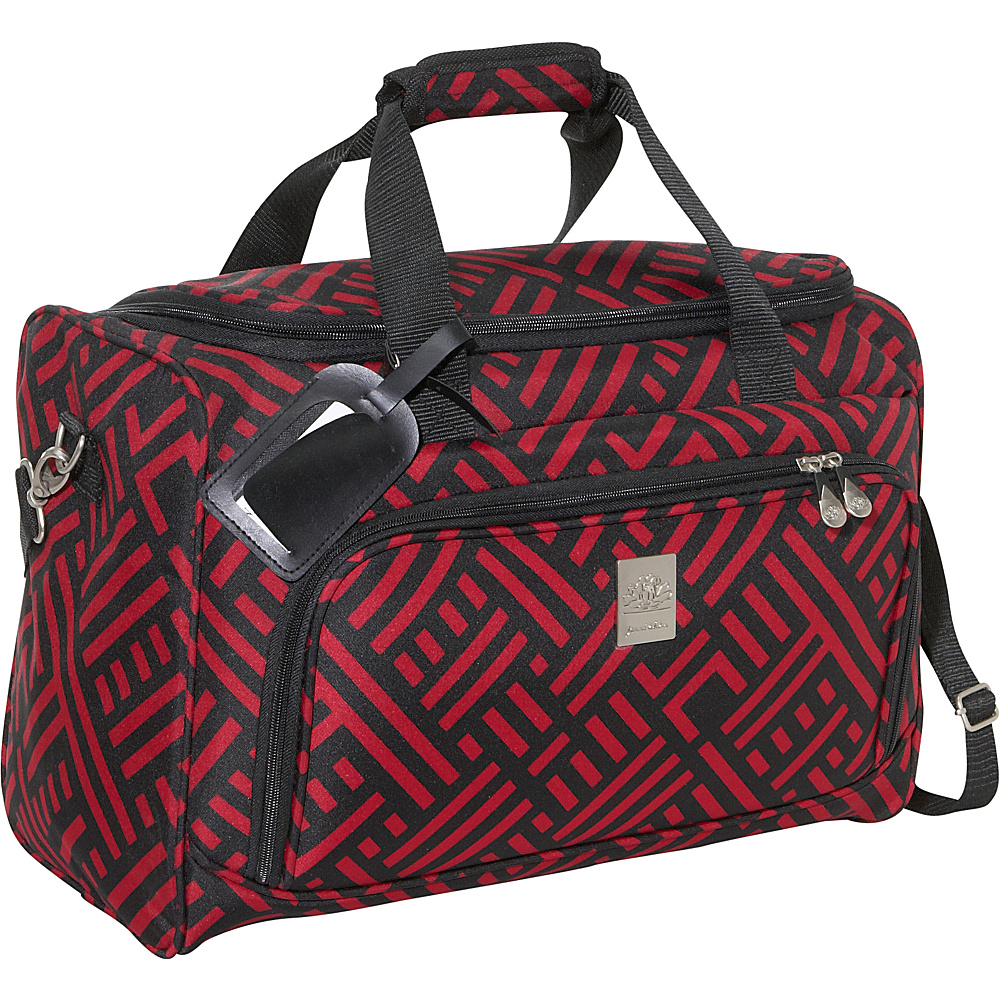 Jenni Chan Signature 18 City Duffel - Black and Red - Luggage, Rolling Duffels