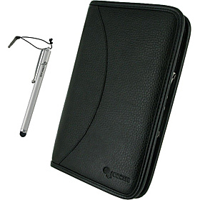 Executive Leather Portfolio w/ Stylus for B&N Nook Color / Nook Tablet Black