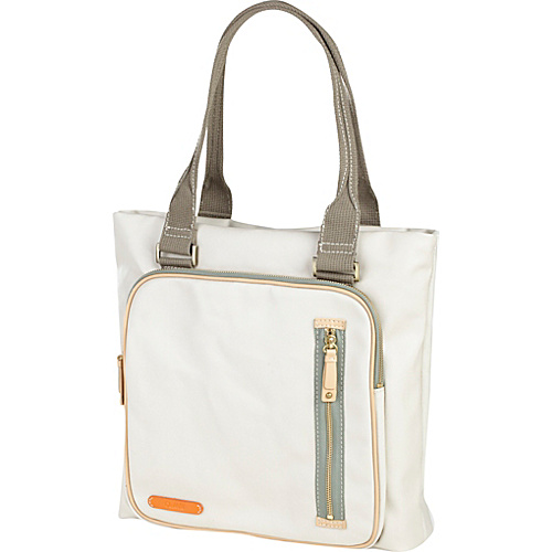 Clava Carina Square Pocket Tote Stone - Clava Ladies' Business