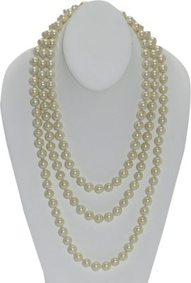Carolee 72 10mm Pearl Rope Necklace