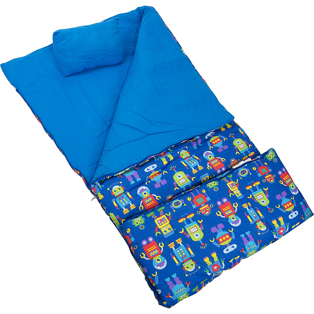 Wildkin Olive Kids Robots Sleeping Bag - Robots - Travel Accessories, Travel Pillows & Blankets