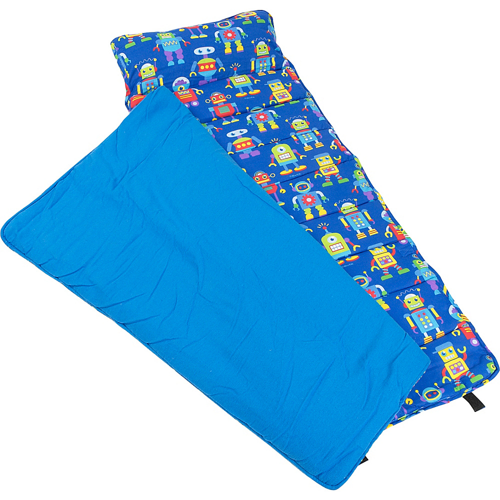Wildkin Olive Kids Robots Nap Mat - Robots - Travel Accessories, Travel Pillows & Blankets