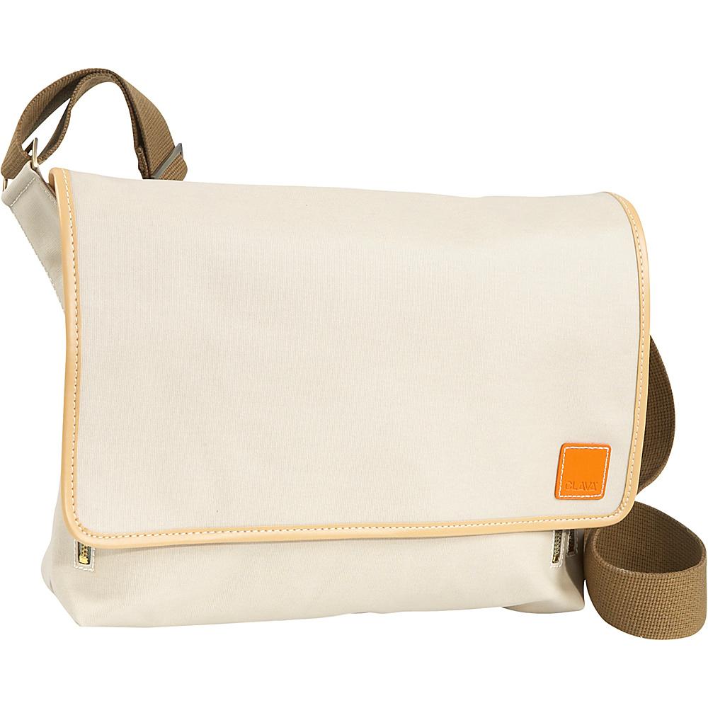 Clava Carina iPad Messenger Bag - Stone