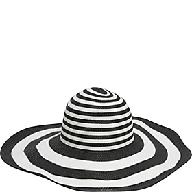 6 Inch Brim Sun Hat black/white mix