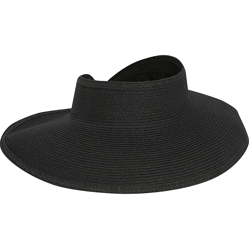 San Diego Hat Roll Up Visor One Size - Black - San Diego Hat Hats/Gloves/Scarves - Fashion Accessories, Hats/Gloves/Scarves