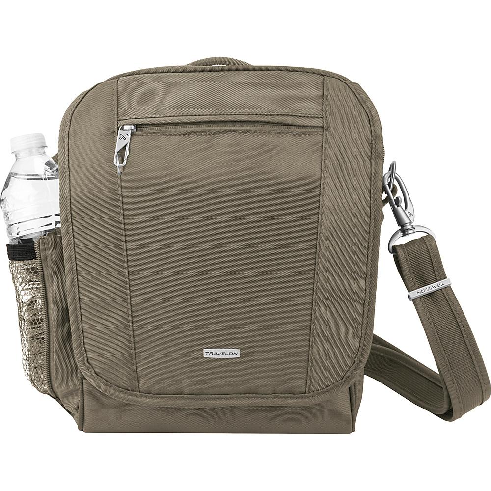 Travelon Anti-Theft Classic Tour Bag, Medium Nutmeg - Travelon Fabric Handbags - Handbags, Fabric Handbags