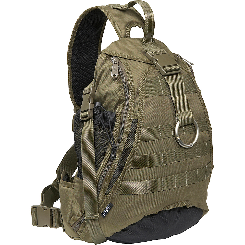 Everest Sporty Hydration Sling Bag - Olive/Black - Backpacks, Slings