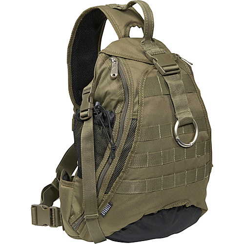 Everest Sporty Hydration Sling Bag - Olive/Black