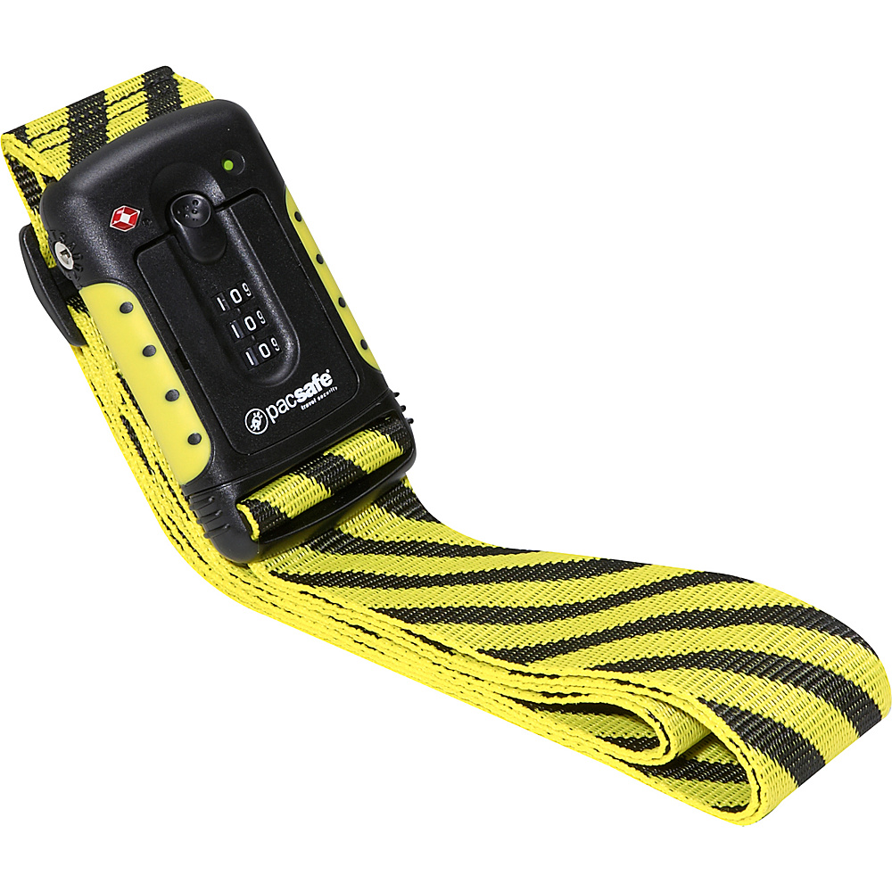 Pacsafe Strapsafe 100 TSA Luggage Strap Yellow Black Pacsafe Luggage Accessories