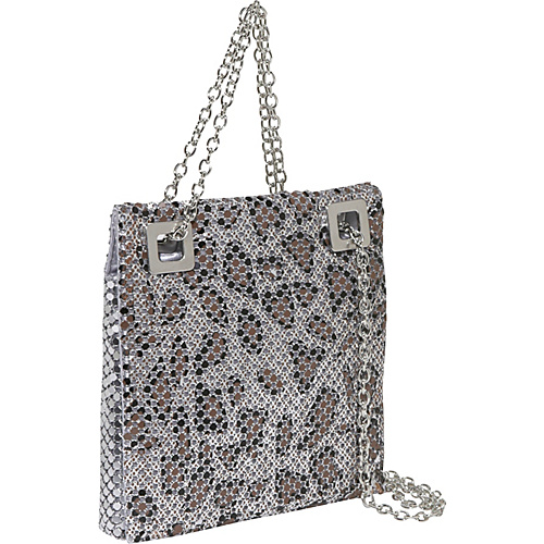 Savanna Animal Print Double Chain Metal Mesh Bag - Shoulder Bag