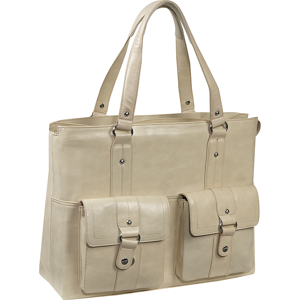 Women In Business Nairobi Laptop Shoulder Bag - Bone
