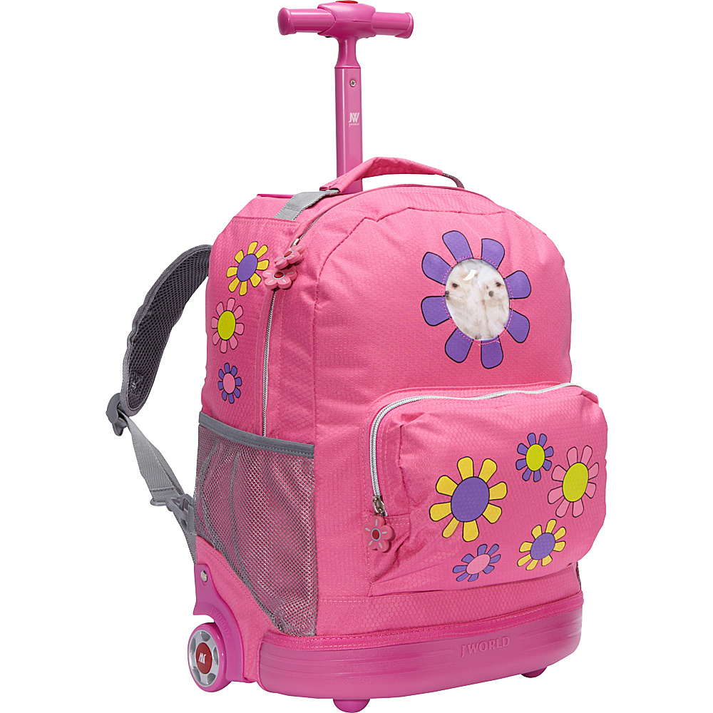 J World New York Daisy Rolling Kids Backpack (Kids ages 4-8) Daisy - J World New York Rolling Backpacks