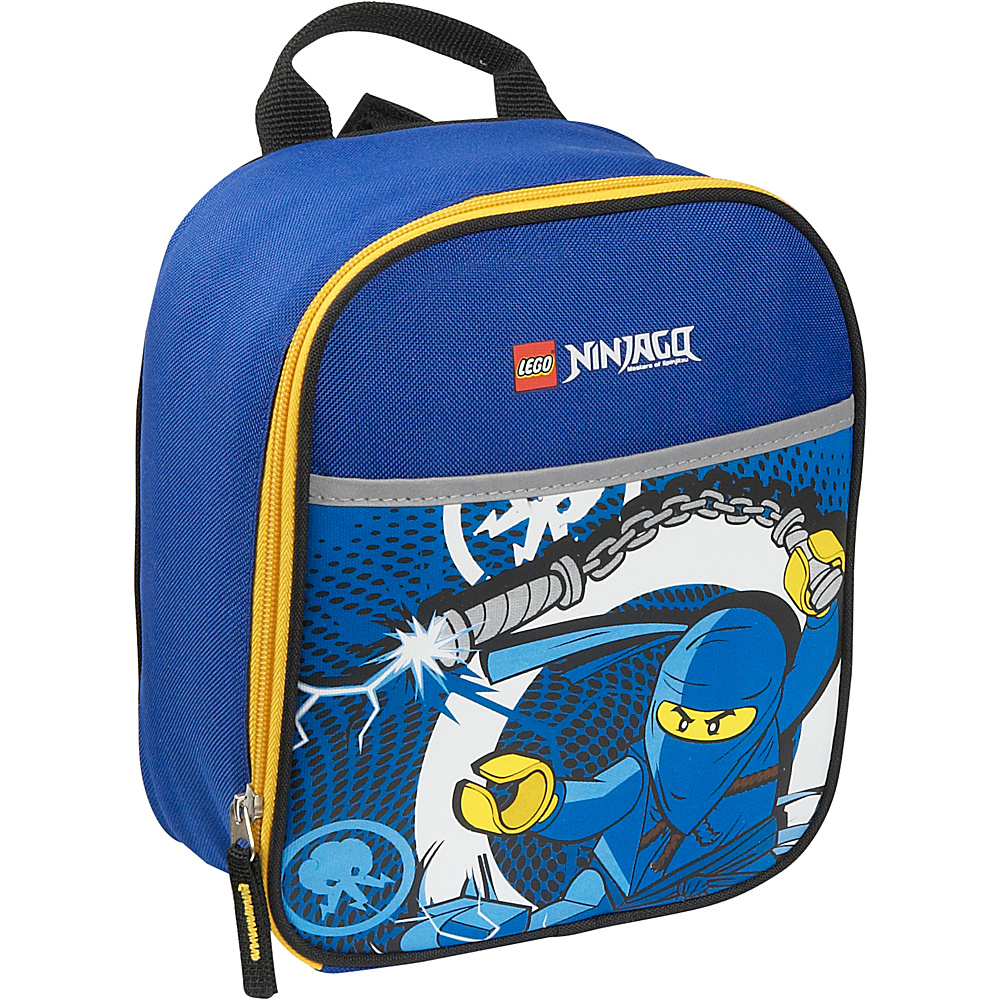 LEGO Ninjago Lightning Vertical Lunch Bag Blue LEGO Travel Coolers