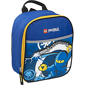 Ninjago Lightning Vertical Lunch Bag Blue