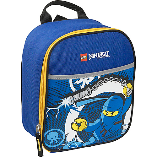 LEGO Ninjago Lightning Vertical Lunch Bag Blue - LEGO Travel Coolers