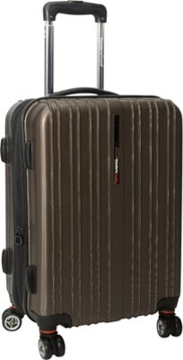 Traveler's Choice Tasmania 21 in. Exp Hardside Spinner Brown - Traveler's Choice Hardside Carry-On