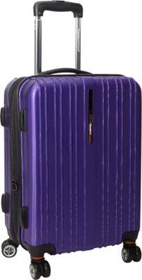 Traveler's Choice Tasmania 21 in. Exp Hardside Spinner Purple - Traveler's Choice Hardside Carry-On
