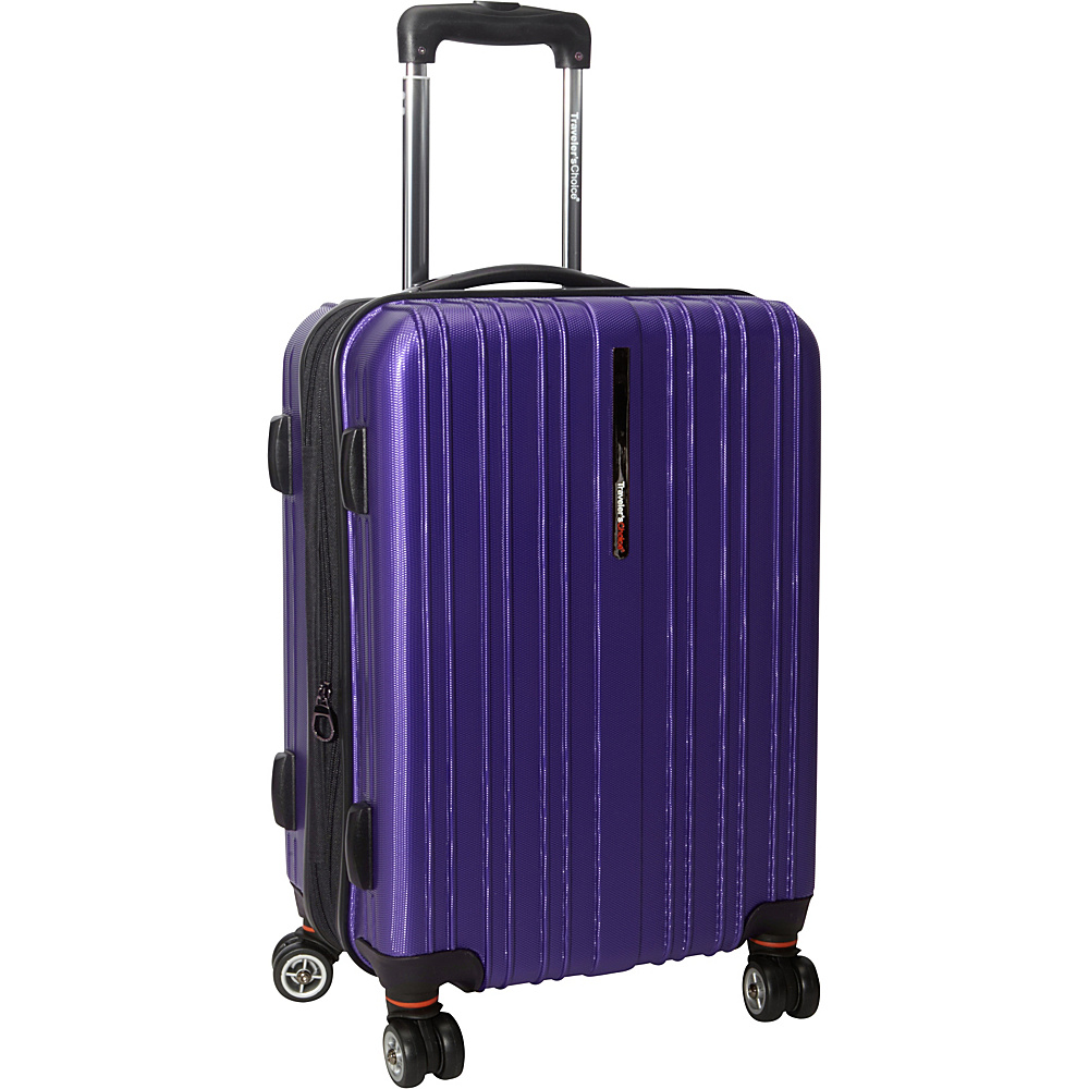 Traveler's Choice Tasmania 21 in. Exp Hardside Spinner Purple - Traveler's Choice Hardside Carry-On