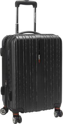 Traveler's Choice Tasmania 21 in. Exp Hardside Spinner Black - Traveler's Choice Hardside Carry-On