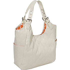 Dreamsicle Diaper Satchel White