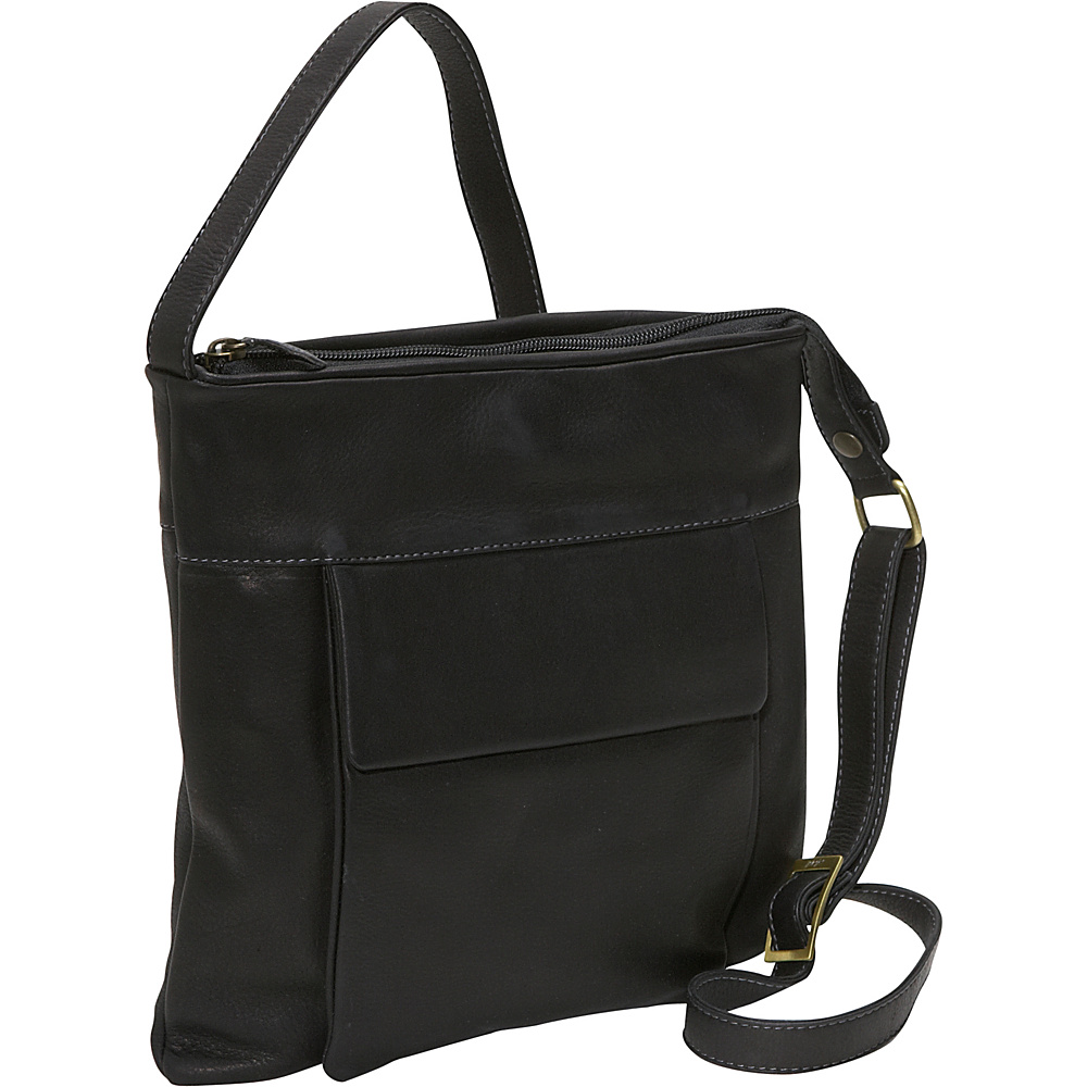 Derek Alexander NS Slim top zip - Black - Handbags, Leather Handbags