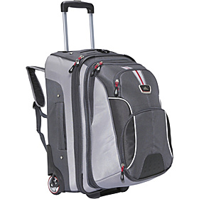 AT6 Carry On Wheeled Backpack with Removable Daypack Greystone/Shadow/Black