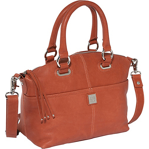 Piazza Lucca Satchel Terra Cotta - Piazza Leather Handbags