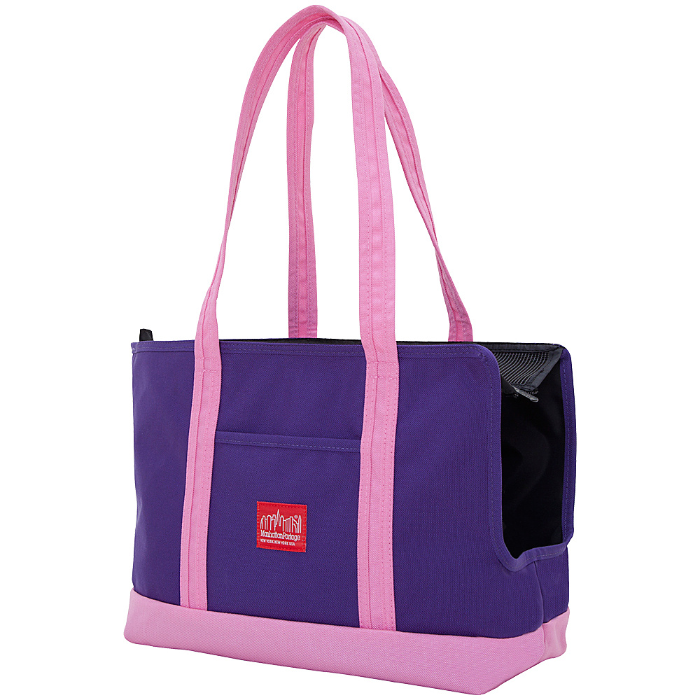 Manhattan Portage Pet Carrier Tote Bag - Purple/Pink - Travel Accessories, Pet Bags