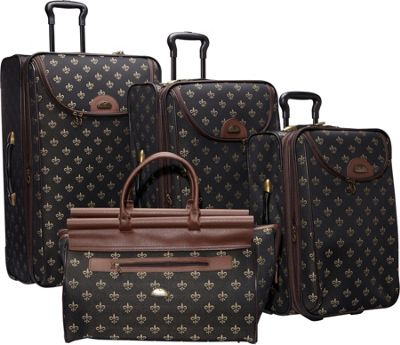 American Flyer Lyon 4-Piece Luggage Set Black - American Flyer Luggage Sets