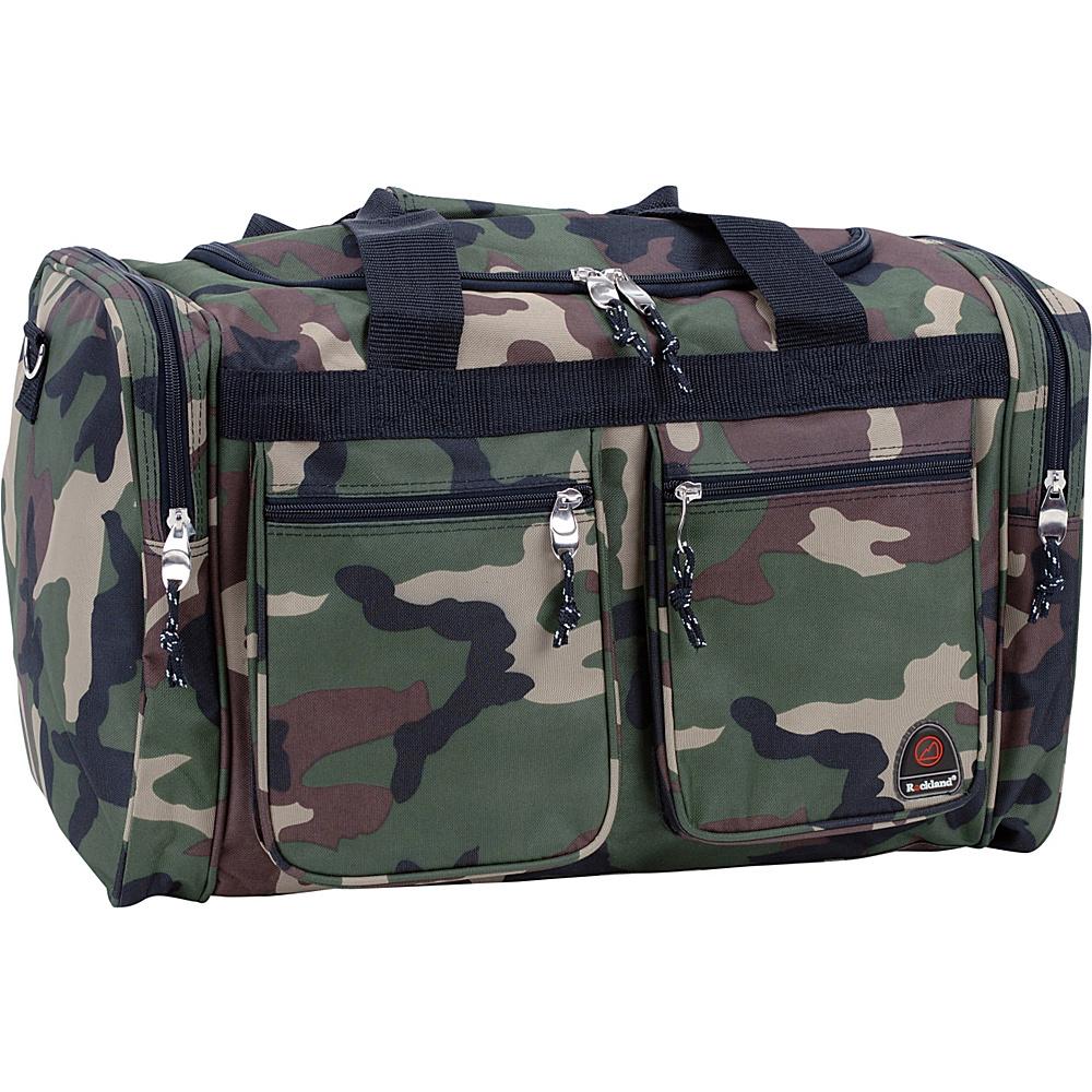 """Rockland Luggage Freestyle 19"""" Tote Bag Camouflage Green - Rockland Luggage Rolling Duffels"""