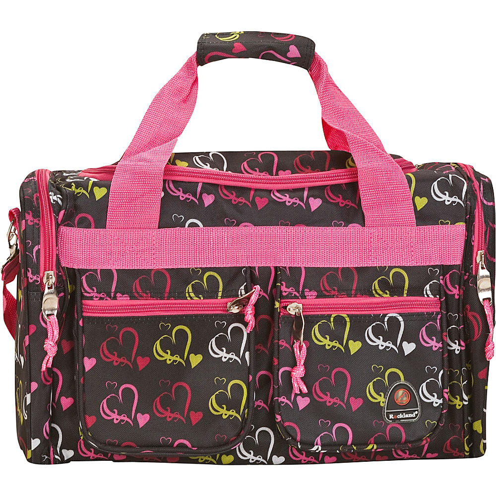 """Rockland Luggage Freestyle 19"""" Tote Bag Multi Color Hearts - Rockland Luggage Rolling Duffels"""