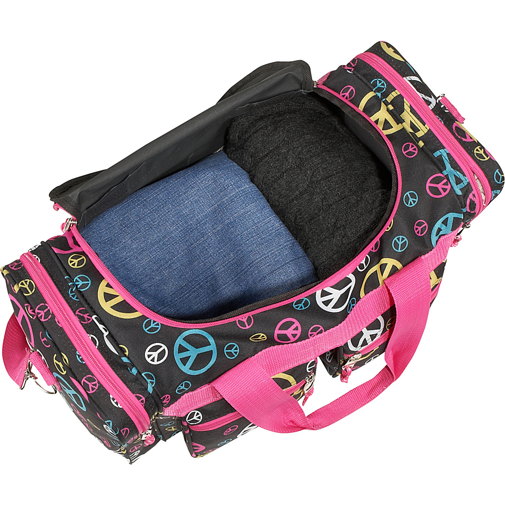 """Rockland Luggage Freestyle 19"""" Tote Bag Pink Leopard - Rockland Luggage Rolling Duffels"""