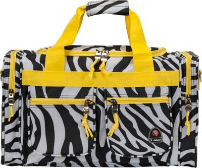 Rockland Luggage Freestyle 19 inch Tote Bag Lime Zebra - Rockland Luggage Rolling Duffels