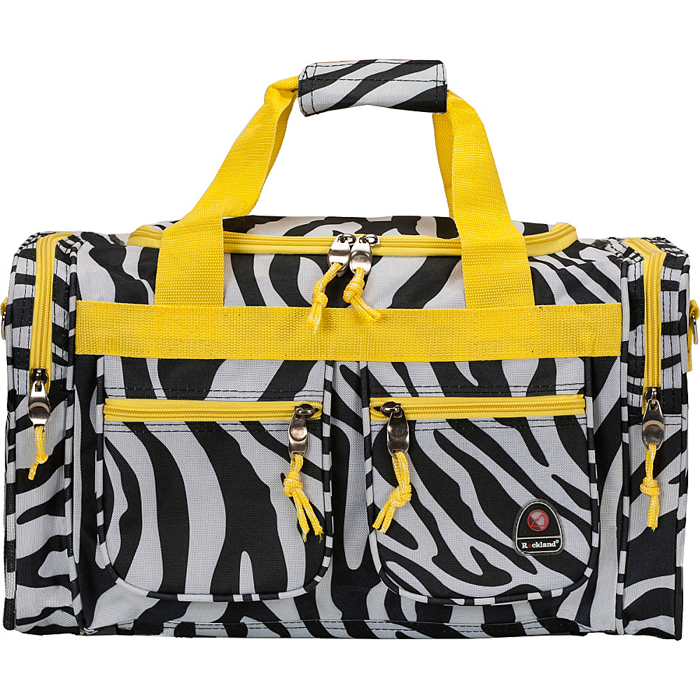 "Rockland Luggage Freestyle 19"" Tote Bag Lime Zebra - Rockland Luggage Rolling Duffels"