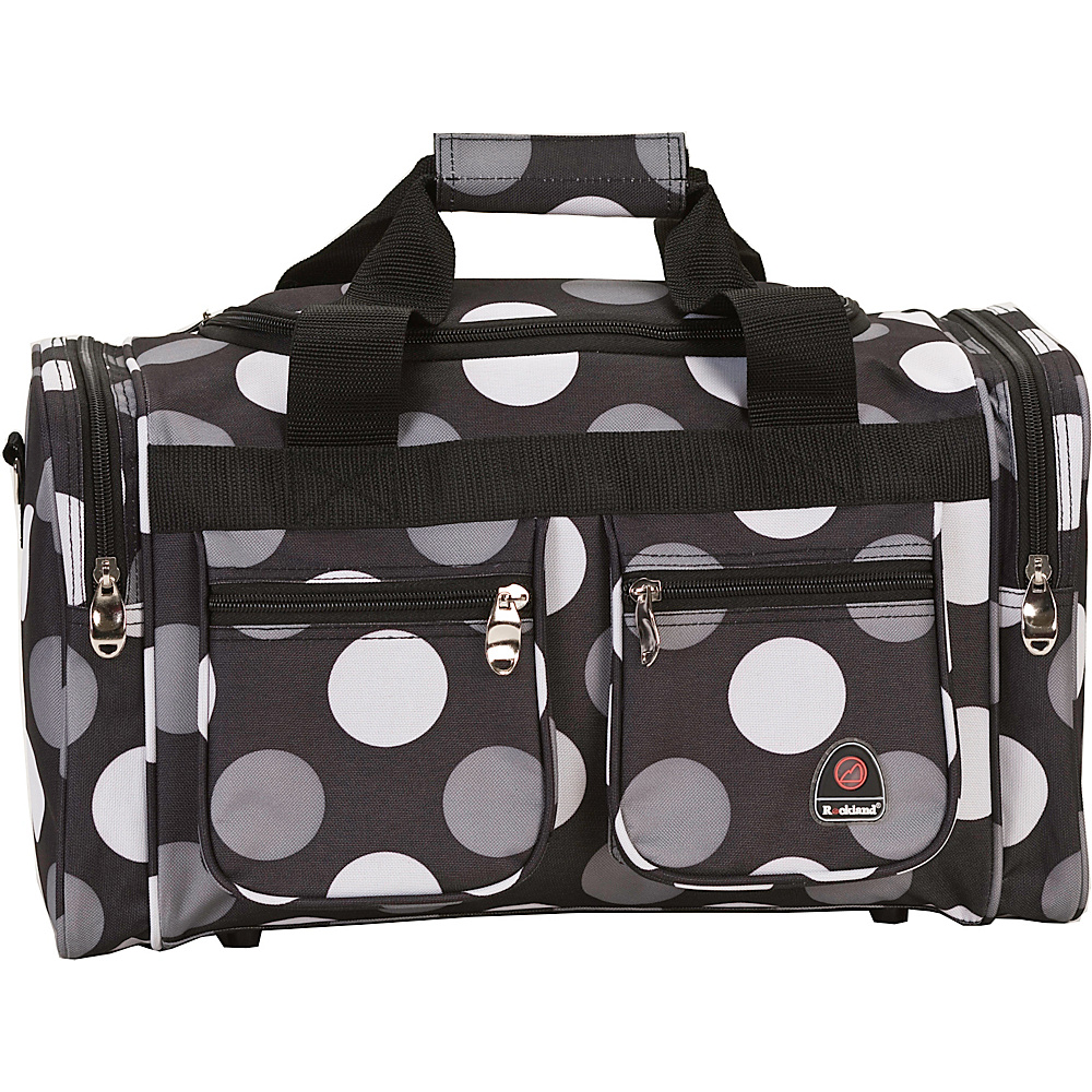 "Rockland Luggage Freestyle 19"" Tote Bag New Black Dot - Rockland Luggage Rolling Duffels"